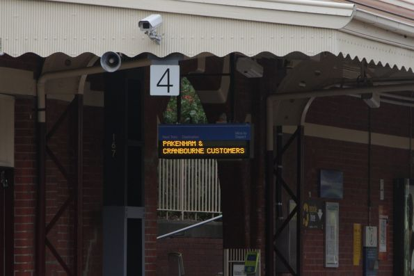 Recently installed LED PIDS installed at Hawksburn station platform 4