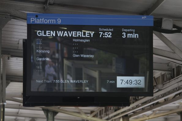 Counter-peak express service on the Glen Waverley line