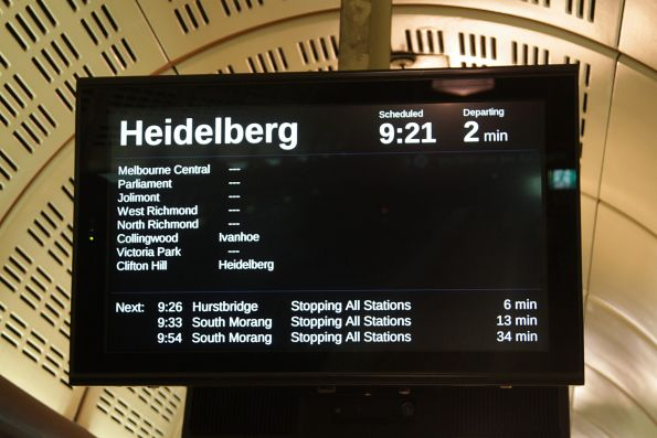 Express train to Heidelberg at the tail end of morning peak