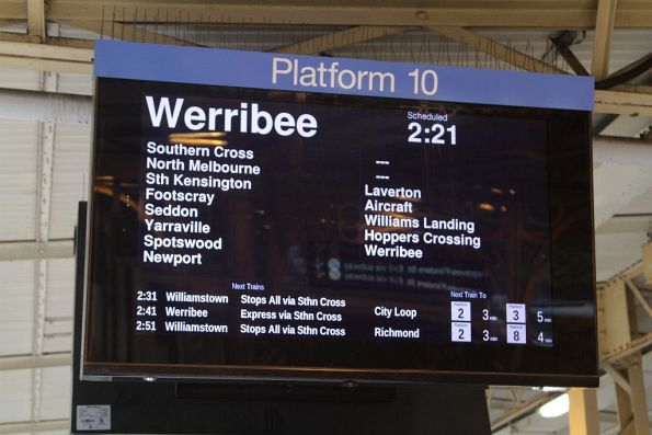 Werribee service running express between Newport and Laverton