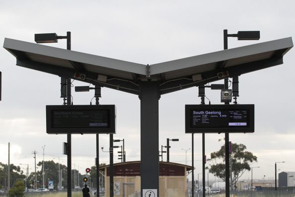 One of the LCD next train displays at Deer Park station is already fading
