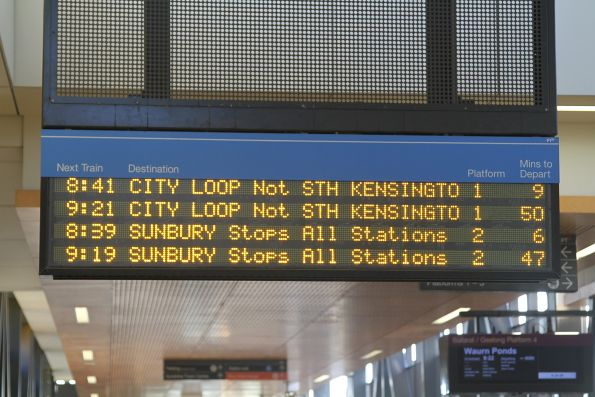 40 minutes between Sunbury line trains on a Sunday morning