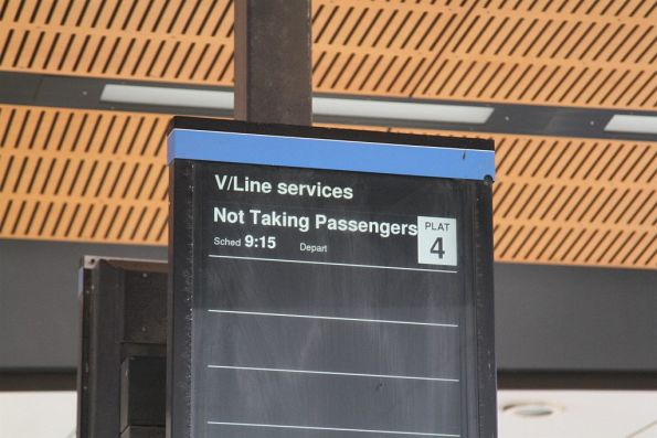 Next V/Line service at North Melbourne is 'not taking passengers'