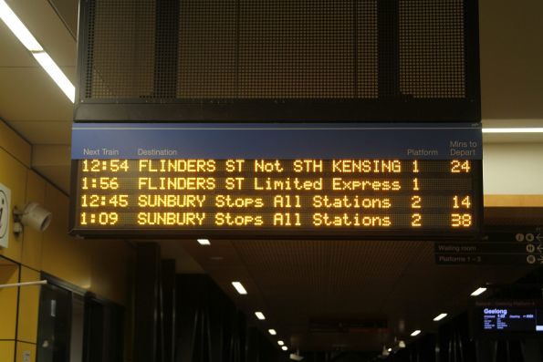 In the middle of the night the Sunbury line gets 'limited express' services