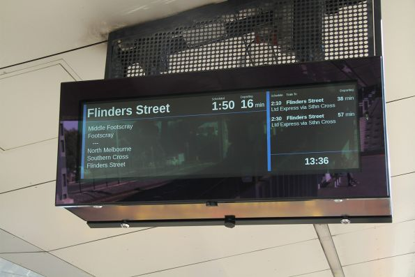 These new PIDS display every up Sunbury line service as 'limited express'