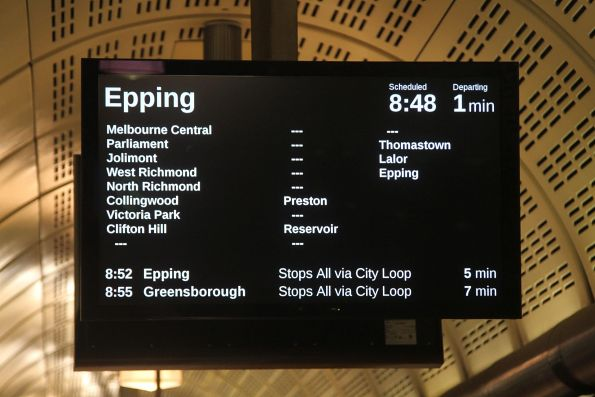 Limited express service from Flagstaff station to Epping - express Clifton Hill to Preston, Reservoir and Thomastown