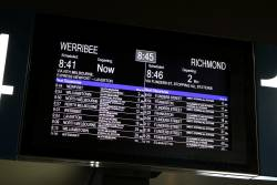 Next train from Southern Cross platform 13 is a service to Richmond