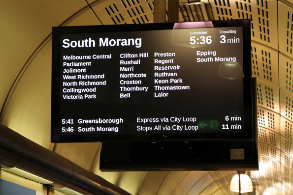 Last days of 'South Morang' being the usual destination for Melbourne's north-east