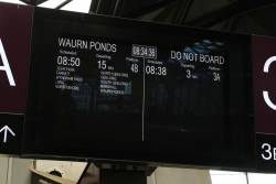 'Do not board' is the next train at Southern Cross platform 3