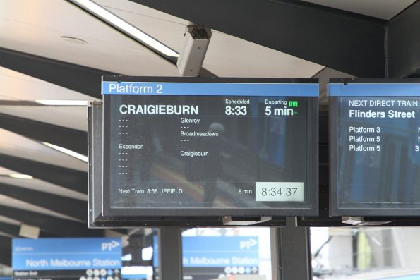 Limited express service on the Craigieburn line from North Melbourne station