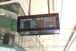 All stations listed on the LCD PIDS at Heidelberg station