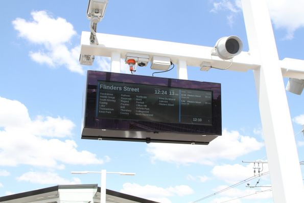 LCD PIDS at Mernda station