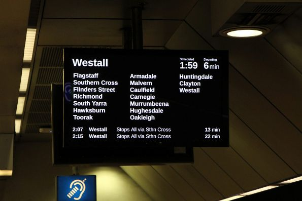 Trains only running as far as Westall due to trackwork on the Pakenham and Cranbourne lines