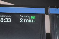 'DVI' input message displayed on the LCD PIDS at North Melbourne station