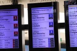 New format displays at Flinders Street, no Belgrave trains to be seen