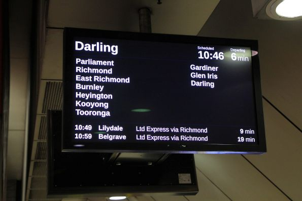 Glen Waverley train only running as far as Darling this weekend