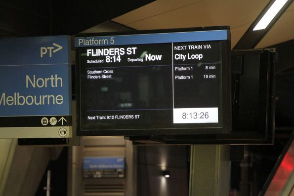 Direct Flinders Street trains running as far as North Melbourne on a weekend