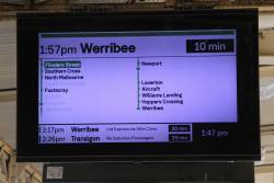 Werribee trains now showing as running express through '--' and '-' on the way from Newport to Laverton