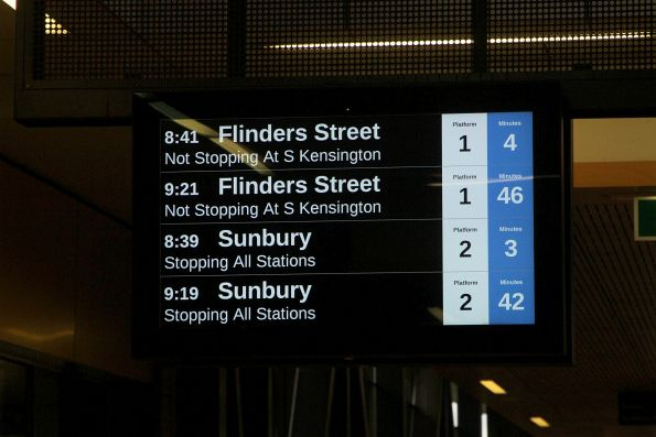 40 minutes between Sunbury line services on a Sunday morning