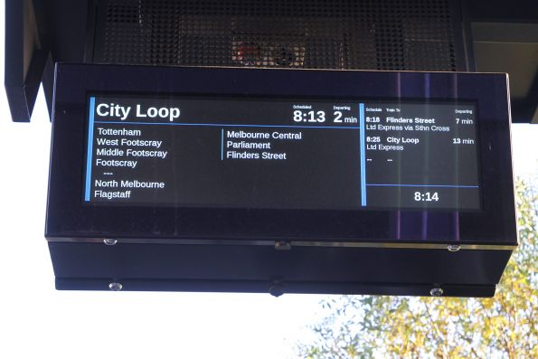PIDS at Sunshine station back to showing 'limited express' for all citybound trains