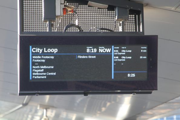 PIDS at West Footscray describe every train as 'Ltd Express'