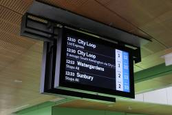 LCD PIDS on the concourse at West Footscray