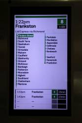 Frankston service stopping all stations except Carrum from Flinders Street Station