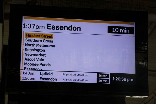 Craigieburn line trains only running as far as Essendon due to trackwork