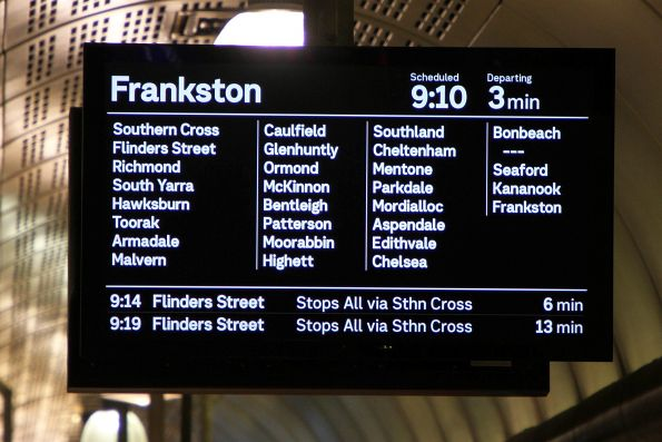 Frankston service stopping all stations except Carrum