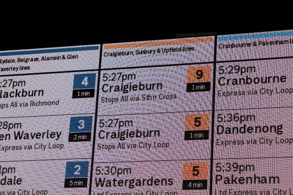 Two 5.27pm trains from Flinders Street Station to Craigieburn!?