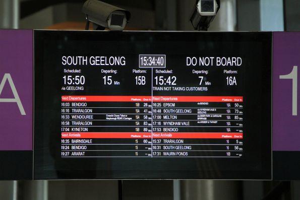 Melbourne suburban passenger information displays - Wongm's