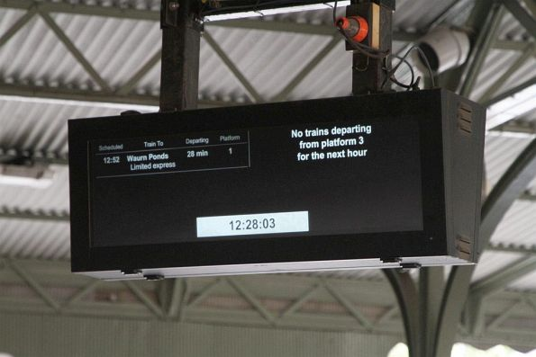 PIDS at the entry to Geelong station