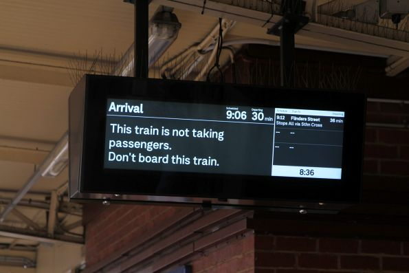 'Arrival' on the PIDS at Newport station