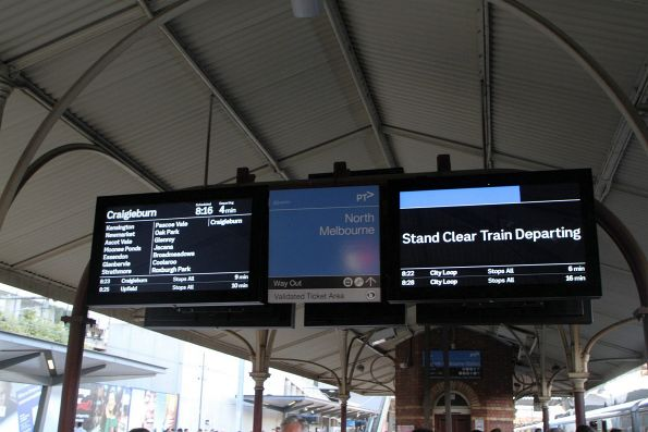 New display format rollout out to the platform screens at North Melbourne