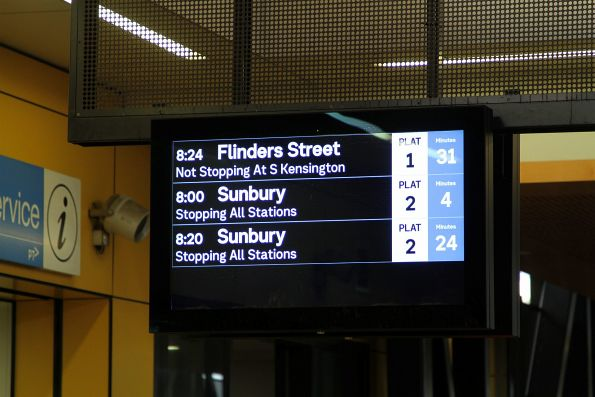 Only one more citybound service on the PIDS at Sunshine station