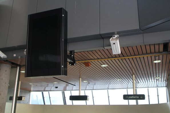 New PTV display switched off again at Flagstaff station