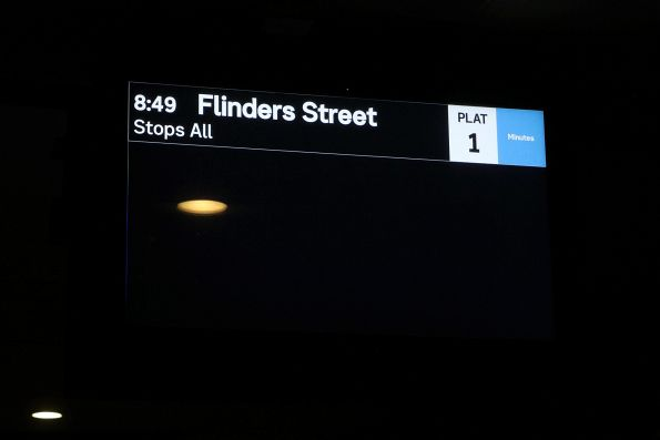 'Next' train from Laverton is the 8:49 Flinders Street