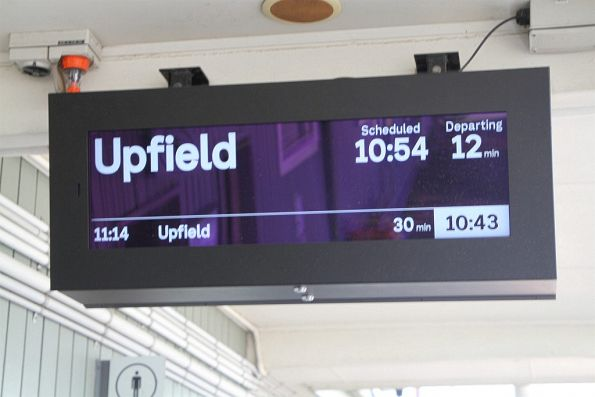 Down Upfield service on the PIDS at Gowrie