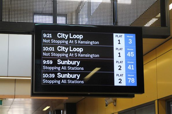 40 minutes between Sunbury line trains on Sunday morning