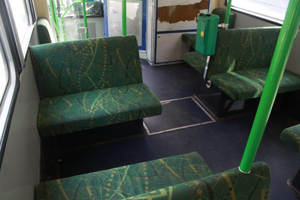 New seat fabric as seen in much of the Yarra Trams fleet since the 2009 rebranding