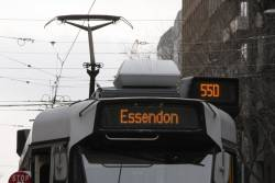 Z3 class tram displaying an 'Essendon Depot' route 55d destination. It only looks like route 550!
