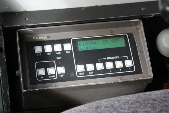 AVM console inside the cab