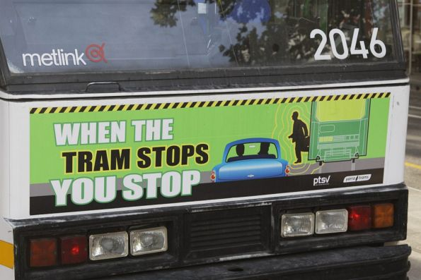 Obsolete branding on B2.2046: Metlink is now PTV, while the PTSV is now TSV. Confused?