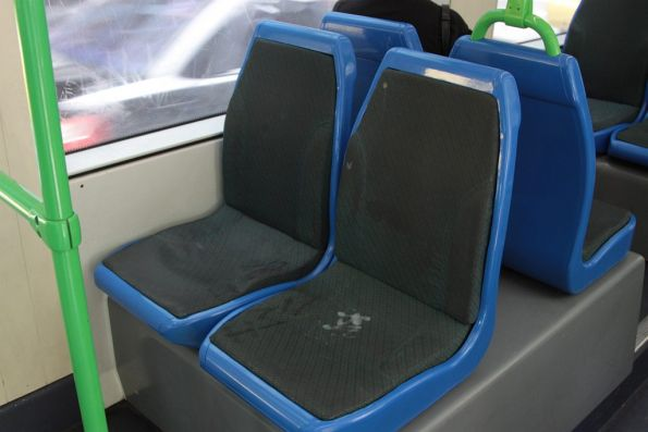 Original Citadis seat coverings covered with filth