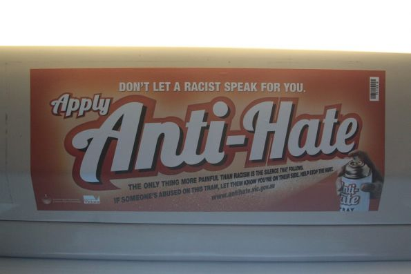 'Anti-Hate Spray' campaign poster from the Victorian Equal Opportunity and Human Rights Commission