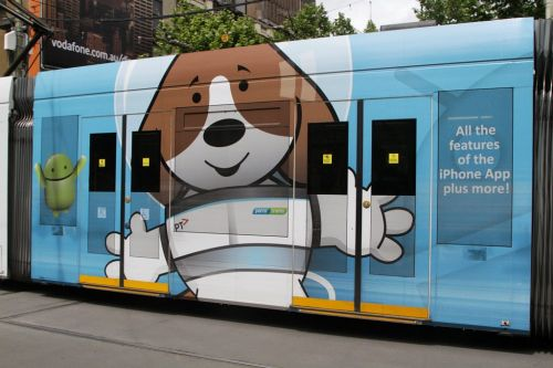 Detail of D2.5004 advertising 'TramTracker'