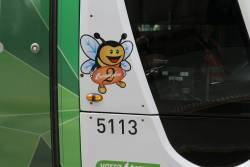 'Bumblebee 2' decal on PTV-liveried tram C2.5113