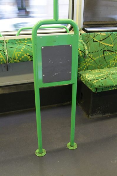 Former Metcard reader stand onboard a 'Apollo' layout B2 class tram