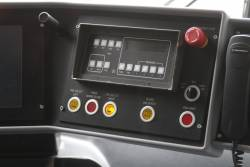 Door controls in the cab of an E class tram
