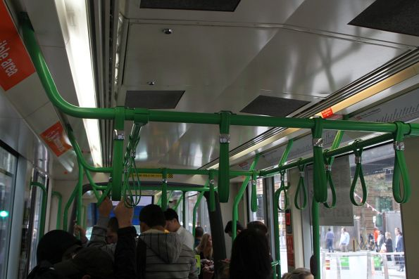 For some reason the interior lighting onboard C class trams is incredibly dim